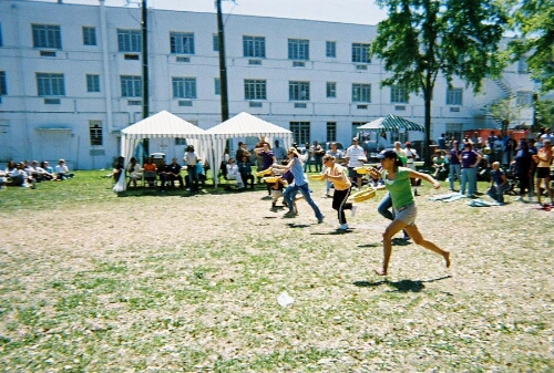 Students Race in Relay with Bedpans