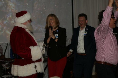 Dr. Hernandez and Others Celebrate with Santa